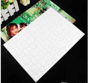 Sıcak A4 Boş Süblimasyon Jigsaw Bulmaca 120 Parça Isı Basın Termal Transferi El Sanatları DIY Süblimasyon Fotoğraf Baskı Için Beyaz Bulmacalar