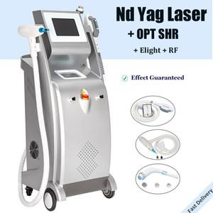 5 IN 1 IPL SHR آلة إزالة الشعر Elight RF تردد الراديو شد الجلد بالليزر YAG الثانية آلات إزالة الوشم تحول ف