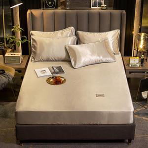 çarşaf yaz Buz ipek elastik Gömme Sac ev yatak seti yatak Protector saten Lüks kapak yastık kılıfı yatak yatak örtüsü