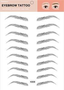 Nouvelle Santé magique Faux Sourcils 4D cheveux comme Sourcils autocollant de tatouage imperméable maquillage durable à base d'eau Sourcil autocollants Cosmétiques