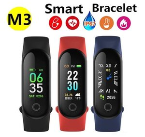 M3 Fitness Smart Bracelet IP67 waterproof Heart Rate Monitor Sleep monitoring smartwatch PK Mi Band Wristbands Detachable