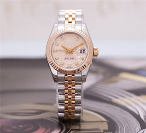 High Quality Asian Watch 2813 Automatic Mechanical Ladies Watch 179173 26mm Diamond Dial 18k Rose Gold Stainless Steel Strap Sapphire Glass