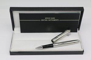أعلى درجة 163 الرول قلم اللوازم المكتبية الفضة النقية الجسم لون المعدن المدرسة القرطاسية مع الرقم التسلسلي القلم