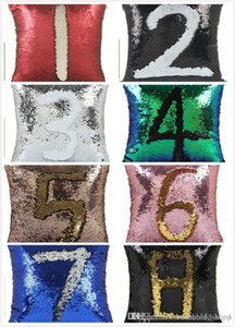Sequin PillowCase Sequins Cushions Cover Reversible Pillow Covers Sofa Car Cushion for Office Home Decoration Free Shipping