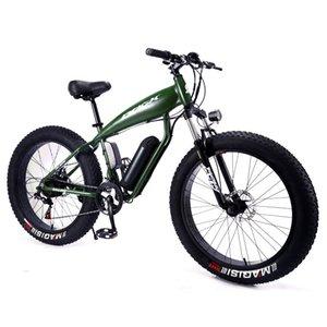 26-pulgadas de nieve de la montaña de la batería de litio bicicleta eléctrica Tiburón Luz Fat Tire conducción del ciclomotor nieve Salir Bici