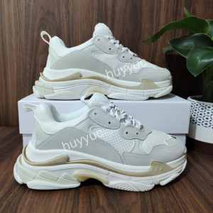 Top Quality Homens Mulheres Branco Preto Rosa Triple S Low Faça Old Sneaker Combinação Soles botas das mulheres dos homens Sapatos esportivos casuais chaussures Shoe