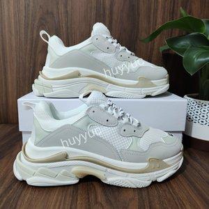 Top Quality Hommes Femmes Blanc Blanc Pink Triple S Rose Vieille Sneaker Combinaison Semelles Bottes Bottes Mens Femmes Chaussures Sports Casual Shoe Chaussures Chaussures