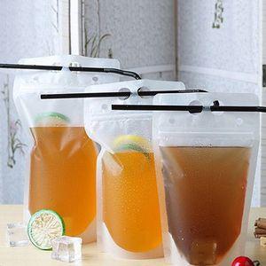 250ml 500ml Plastic Beverage Bag Drink Leite Café Container Beber Fruit Juice saco de plástico Food Bags T2I5966-1