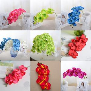 8 cabeças Simulação único ramo Artificial flores de plástico flores secas decorações de casamento Wall Decor Artes E Ofícios 2 5mC E2