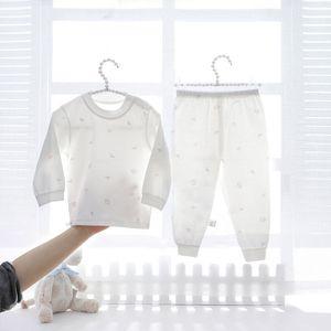 Bebé casa Ropa de Niños y Niñas del bebé del verano pijamas Thin Air Conditioning juego de la manera Traje de verano para niños de dos piezas
