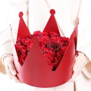 New round crown flower box hugs flower bucket gift box gift candy bar Party storage