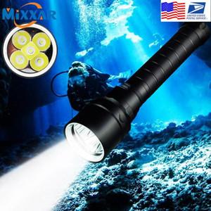 Zk20 Drop Tauchen T6 Unterwasser Taschenlampen 100M Scuba Sicherheit Dive-Licht-Fackel für Under Water Sports