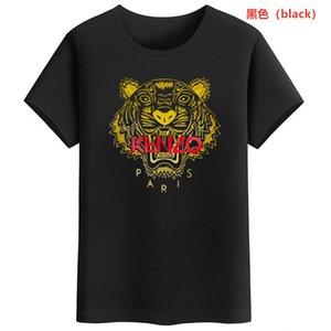 Kenzo T-Shirt Männer dünne Funky bunten Druck trippy T-Shirt männliches Weinlese-T-Shirt lustigen Top-T-Shirt