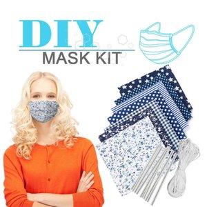 2020 DIY Mask Kit Sets DIY Designer Mask Hand Made Dustproof Mask Kit Ear Elastic Rope Nasal Bridge