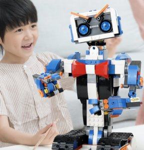 Electronic building block programming robot APP remote control electric assembling building block toy