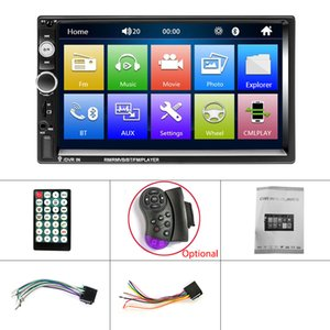 "MP5 autoradio 7"" Stereo Screen HD Autoradio Multimedia Player 2DIN Touch Auto Car audio DVD MP5 Bluetooth USB Camera TF FM"