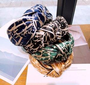 Fashion designer headband Hair Band Hairband Knitted rib Girls Bow Hoop Hair Accessories Velvet Twist Headband factory price