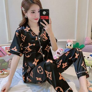 Womens de cetim de seda 5pcs Terno Ladies Sexy Silk Satin Pajama Set Feminino Lace Pajama Set Pijamas Outono Inverno Wear Início roupa de dormir para as Mulheres