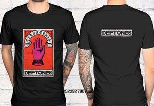 blancos divertida camiseta de los hombres de la camiseta camisetas Negro camiseta Deftones mano Fabricación de defectos Hombres Negro Camiseta