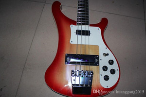 Atacado elétrico baixo guitarra 4 cordas FDR elétrica guitarra feita de corpo de mogno, maple pescoço / fingerboard qualidade superior em vermelho 121218