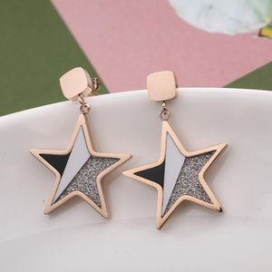High Street Personality Women Studs INS Fashion Star Pattern Lady Pendant Stud Birthday Gift For Girls Lovely Studs