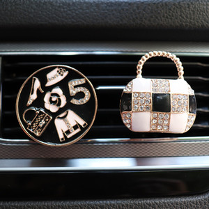 2020 New Purse Car Decor Air Freshener In Auto Outlet Perfume Clip Car Scent Diffuser Bling Interior Accessories For Girls