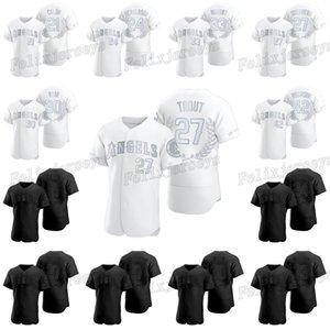 Mike Trout 2020 Prêmios Coleção Black White Baseball Jersey Bartolo Colón Rickey Henderson Vladimir Guerrero Eddie Murray Nolan Ryan