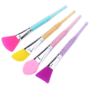 Silicone Facial Mask Brush Soft Cleaning Tools High Quality Makeup Brushes Face Spa Multicolour Rhinestone Rod Popular 2 2wy D2