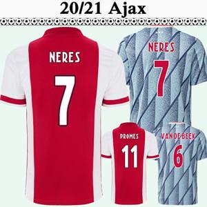 20 21 Ajax ZIYECH TADIC Hommes Football Maillots NERES de Ligt DOLBERG Accueil Extérieur Maillot de football HUNTELAAR DE JONG Uniformes manches courtes