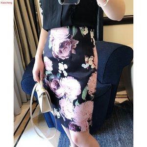 Graceful curve 3D printing digital Digital female high waist hip skirt design sense female niche skirt