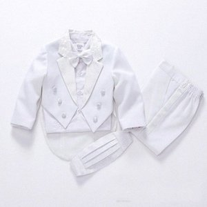2019 fashion white black baby boys suit kids blazers boy suit for weddings prom formal spring autumn wedding dress boy 5pcs AYds#