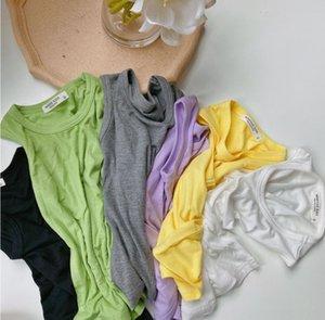 abbigliamento 2020 spalla abbigliamento vestChildren vestnew solido il colore della maschera per bambini gilet boyspit della maglia della cinghia di moda bambino