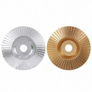 Madera Grinding Wheel amoladora angular del disco de talla de madera disco de lija abrasivo de la herramienta 5 / apartamento Bore 8inch / arco / inclinado MTBS avión #