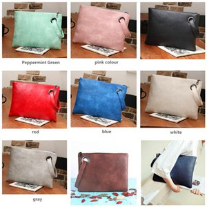 Fashion Women Clutch Bags Vintage PU Handbag Large Capacity Envelope Bag Outdoor Travel Handbags Shoulder Bags Female Clutches New Purse
