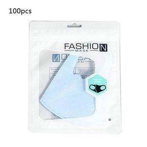 100Pcs Mask Packing Bag Resealable Plastic Storage Bags Mask Zipper Lock Pouch H37C