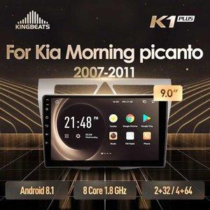 unidade de cabeça KingBeats Android 8.1 Octa-Core 4G no traço Car Radio Multimedia Video Player de navegação GPS para Kia Picanto Manhã 2007 - carro dvd
