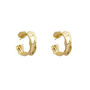 Hoop Chunky Altın Renkli C Hoop Küpeler Chunky Hoops Geometrik Küpe İçin Kadınlar Minimalist Takı Aksesuarlar Şeklinde