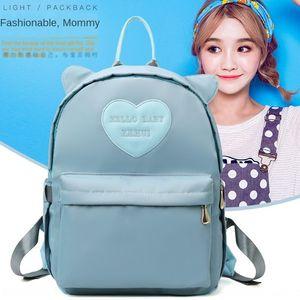 New Mommy Earrings milk bottle backpack pure color ears cute baby bag backpack baby bottle insulation bag
