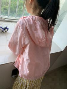 Verão Crianças Outono Meninos Meninas Jacket Imprimir zíperes casaco corta-vento roupa ocasional com capuz de proteção solar