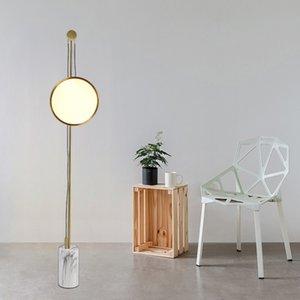 Modern Gold Metal Marble Base Floor Lamp Living Room Dining Room Bedroom Art Standing Light FA093