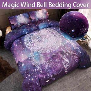 4 Size Bohemian Wind Chime Pattern Duvet Cover Set Home Comforter Bedding Set Winter Bedsheet Pillowcase Bedlinen Bedspread