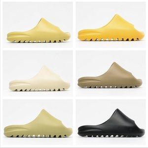 Kanye West New Slipper Pour Hommes Femmes Os Brun Terre Désert Sable Chaussures Diapo Résine Designer Sandales mousse Runner Taille avec la boîte