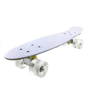 Mini Cruiser, Skateboard for Beginners Kids, 22inch PP Panel Child Skateboard,for Outdoor Sport Fish Board Non-Slip Deck