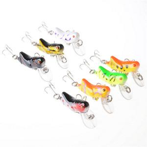 1 Adet Fly balıkçılık cazibesi 4,5 cm 4.1g Sert Yapay Wobbler Bait crankbait Çekirge Böcekler İçin Sea Fishing 7 Renkler
