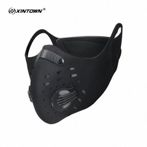 XINTOWN Radfahren Masken Aktivkohle Anti-Staubschutzmaske Staubdichtes Gebirgsfahrrad Sport Rennrad Masken Gesicht Abdeckung e8KN #