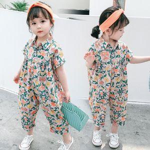 소녀 서스펜더 바지 2020 새로운 슬링 슬링 서구 스타일의 옷을 빌려 어린이 여름 소녀 여름 옷 유행 어린이