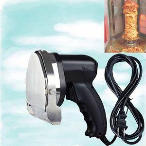 Elektrischer Kebab Slicer Doner Messer Shawarma Cutter Handbratenfleisch Schneidemaschine Gyro Messer 220-240V 110V Zwei Klingen