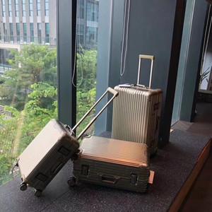 Valigia d'oro Viaggi alluminio Cabina Arrivo Tronco