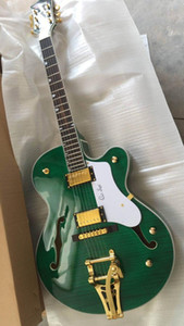 Custom wholesale top luxury green jazz guitar with customized service, all colors available