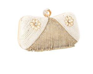 ABER 2020 Diamanttroddel Kupplungsgeldbeutel Hochzeitsmahl Mappen Perlen Schultertaschen Patchwork-Taschen Ring MN1510 Tropfenverschiffen